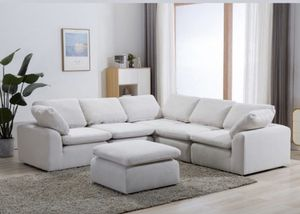 COMFY WHITE AVENTURA SECTIONAL AND OTTOMAN/NO CREDIT CHECK FINANCING AVAILABLE for Sale in Tampa, FL