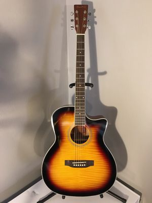 Brand New Spectrum Flame Maple Acoustic Guitar for Sale in Las Vegas, NV