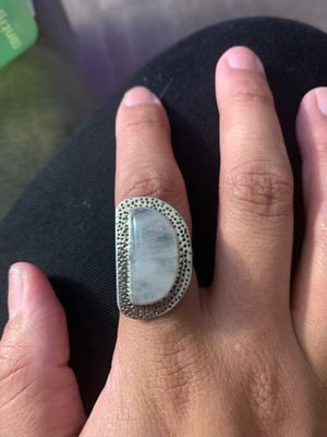 Large rainbow moonstone ring for Sale in Santee, CA