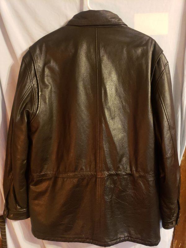 Mens london fog leather jacket