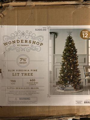 7.5' Pre-Lit Christmas Tree for Sale in Phoenix, AZ