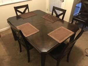 Brown kitchen table. With 6 chairs for Sale in Salinas, CA