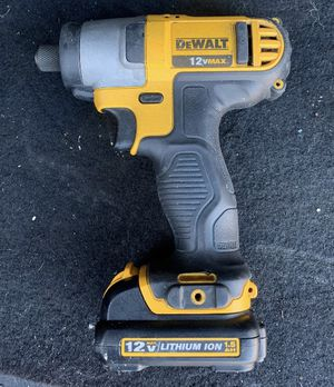 Dewalt power tools - impact driver, drill, sawzall, two 12v batteries and charger for Sale in Covina, CA