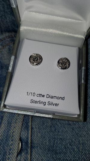 1/10 cttw Diamond SS Earring for Sale in Modesto, CA