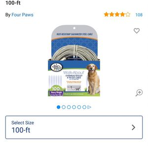 BRAND-NEW 100-ft. Dog Leash Cable for Sale in Morrisville, PA