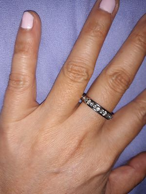 925 Sterling Silver Simulant Diamond Wedding Ring, Size 9. for Sale in Dallas, TX