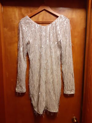 Tags on Sequined/Fringed Party Dress for Sale in Glenwood, IL