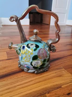 Paul Counts Handblown Glass Glass Teapot for Sale in Rockville, MD