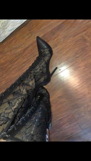 Knee high heel boots size 8 for Sale in Poinciana, FL