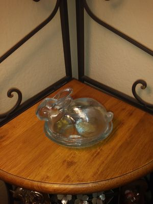 Antique glass bunny nest. for Sale in Chino Hills, CA