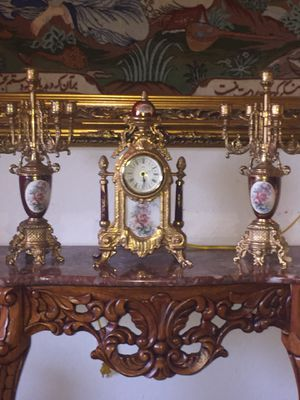Antique Italian clock and candelabra for Sale in Mission Viejo, CA