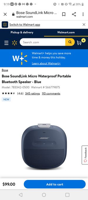 Bose SoundLink Micro Waterproof Portable Bluetooth Speaker Brand New In Box for Sale in Fresno, CA