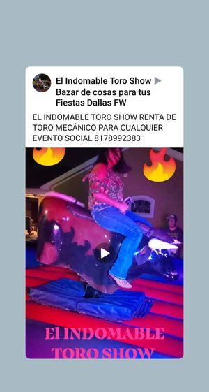 EL INDOMABLE TORO SHOW RENTA DE TORO MECÁNICO PARA CUALQUIER EVENTO SOCIAL 🐂🎶🎊🎈🎉💥☄💯🎵🧨🔥🥳 for Sale in Arlington, TX