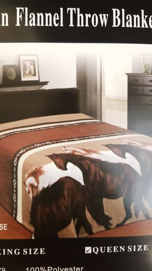 Modern Horse Design Flannel Throw Blanket for Sale in Los Angeles, CA