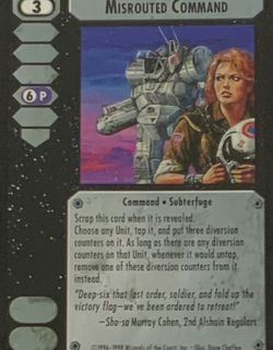 Battletech TCG CCG Misrouted Command 1996 Trading Card Game for Sale in Oregon City,  OR