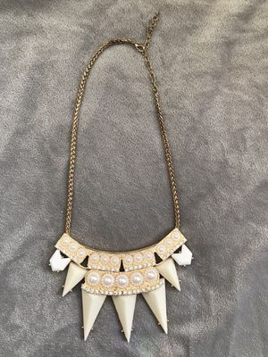 Gold & Ivory Bib Statement Necklace for Sale in Boston, MA
