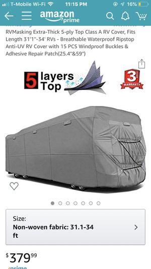 Class A RV Cover for Sale in Land O Lakes, FL