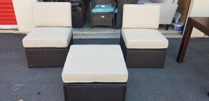 3 piece wicker outside set for Sale in Morrisville, NC