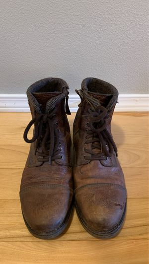 Aldo size 10.5 brown leather boots for Sale in Bonney Lake, WA