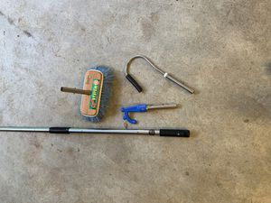 Stainless Steel telescoping boat tools, hook, gaff, brush for Sale in Issaquah, WA