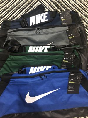 Nike Brasilia Medium Duffle bags. New with tags! Blue, Gray, Green and Royal Blue available. for Sale in Kenosha, WI
