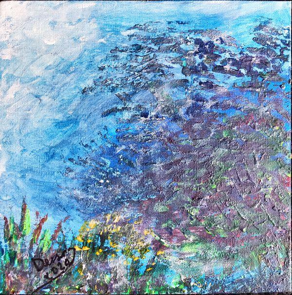 "Acrylic paintings on 8x8"" canvas"