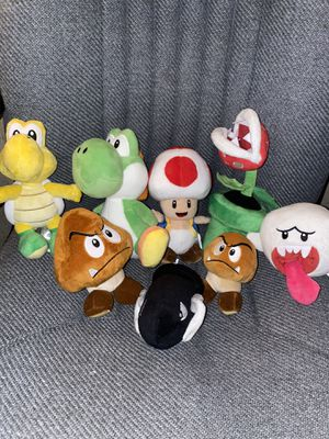 Nintendo Plushie Collection for Sale in Downers Grove, IL