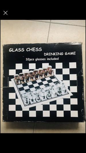 Glass chess drinking game. for Sale in White Plains, NY