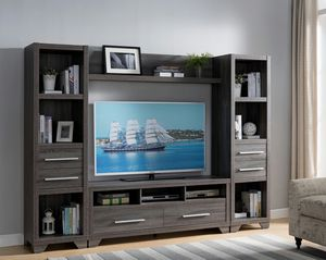 Entertainment Center for 70in TVs, Distressed Grey for Sale in Santa Ana, CA