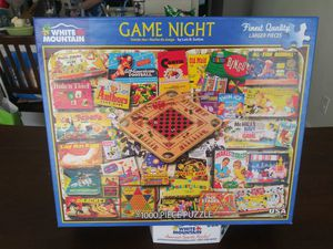Game Night Poster Puzzle 1000PCS for Sale in Blackwood, NJ