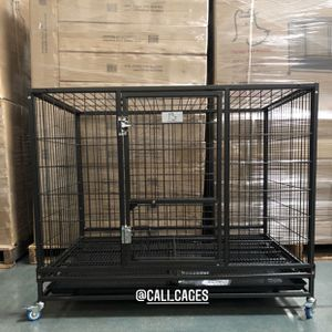 """Dog Pet Cage Kennel Size 43"""" Large Folding New In Box 📦 for Sale in Chino, CA"""