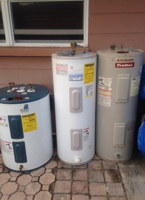 A.O. Smith (ProMax),GE and Ruud hot water heater for Sale in Delray Beach, FL