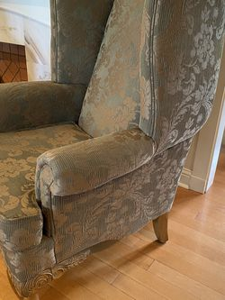 Elegant Large Wingback Chair With Silk Embroidery for Sale in South Gate,  CA