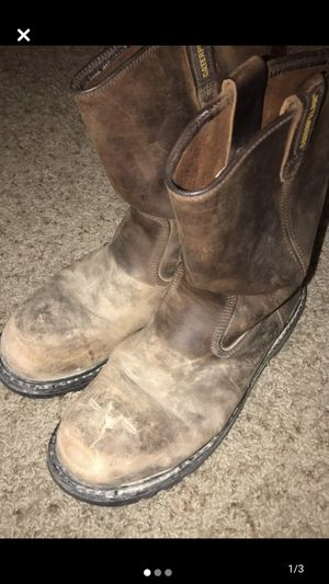 Steel toe work boots for Sale in Tulsa, OK