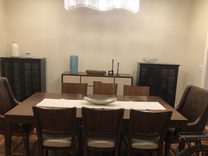DINING SET WITH 8 CHAIRS (brown, wood) for Sale in Bethesda, MD