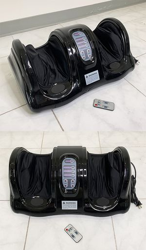 (New in box) $70 Shiatsu Foot Massager Kneading Rolling Leg Calf Ankle w/ Remote Home Health Care for Sale in Whittier, CA