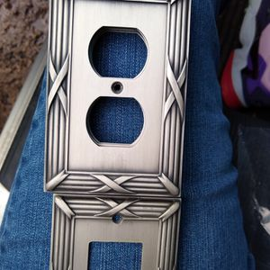 Brushed Nickel Plug And Switch Covers for Sale in Keizer, OR