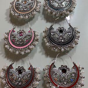 silver oxidized antique handmade earrings . for Sale in Arlington, VA
