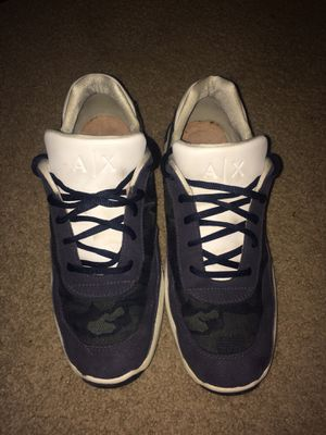 Armani Exchange camo shoes, navy blue for Sale in Frederick, MD