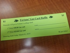 FORTUNE' GAS CARD RAFFLE for Sale in Charlotte, NC