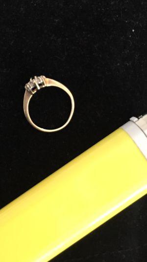10k solid sapphire/ diamond ring for Sale in Foxborough, MA