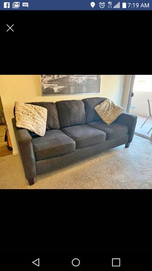 Couch charcoal grey with 2 pillows in perfect condition for Sale in Phoenix, AZ