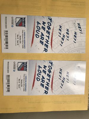 Hockey Tickets -NY Rangers vs Hurricanes for Sale in Lenoir, NC