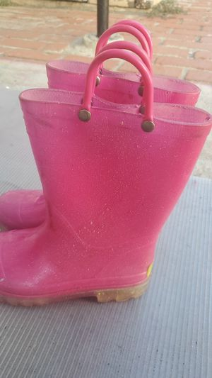 Glitter Pink rain boots size 1 for Sale in San Diego, CA