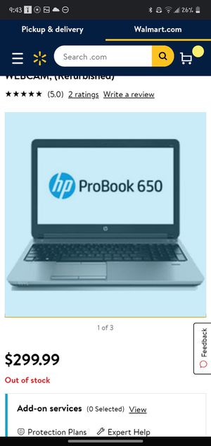HP ProBook 650 G1 Laptop i5-4200M @ 2.5GHz, 4GB, 500GB, Win8 for Sale in White Hall, WV
