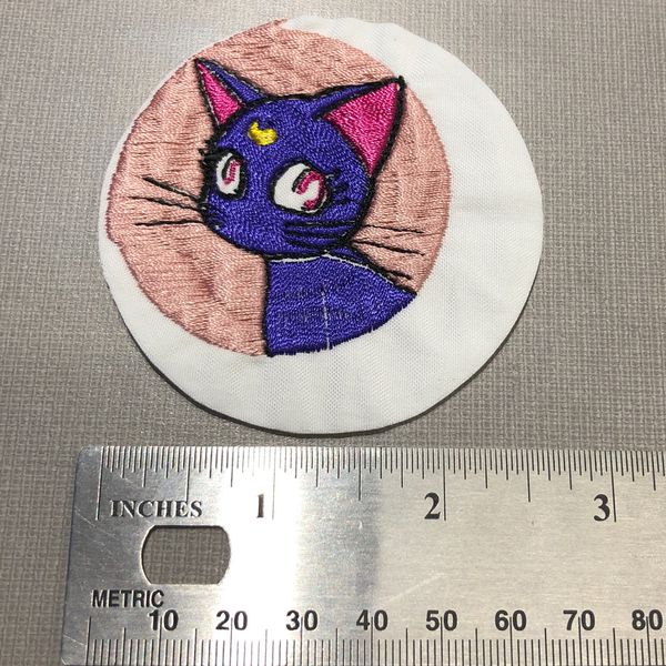 Sailor Moon Luna Artemis Crescent Patch