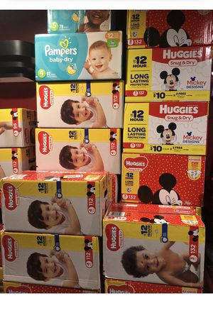 Huggies and pampers 3,4,5 number for Sale in Blacklick, OH