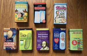 Accoutrements Archie McPhee Collectible Bandage Candy Novelty Tins for Sale in Seattle, WA