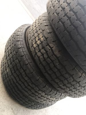 4x used trailer tire ST 205x75-14 $100 for 4. Good condition for Sale in San Bernardino, CA
