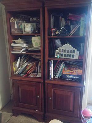 hardwood bookshelves for Sale in Glyndon, MD
